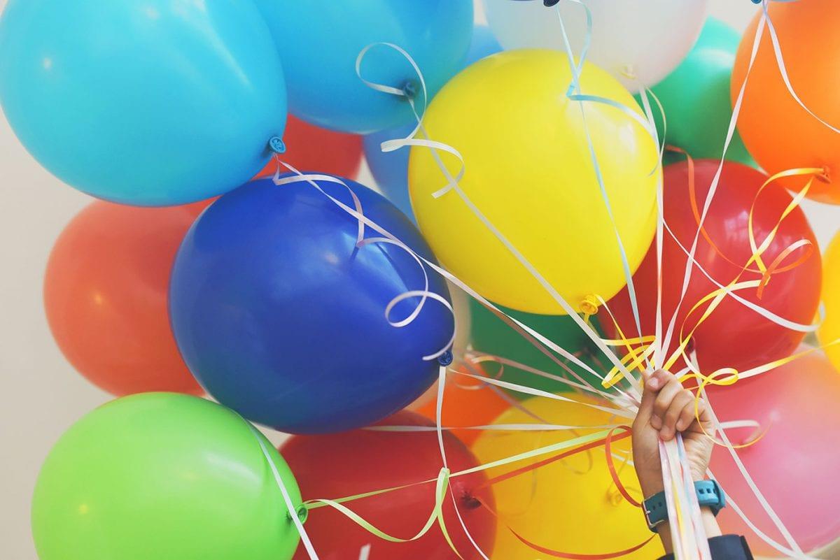 Ett knippe ballonger